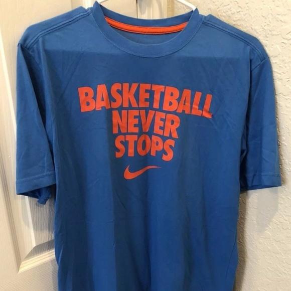 938d2e35 Nike Dri-Fit Basketball Never Stops Blue T-Shirt. M_5b1dd3e7e944ba8c475ef711
